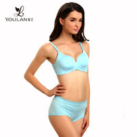 Long Experience Factory Fashion Teen Polyester Ladies Nylon Bra And Panties Set