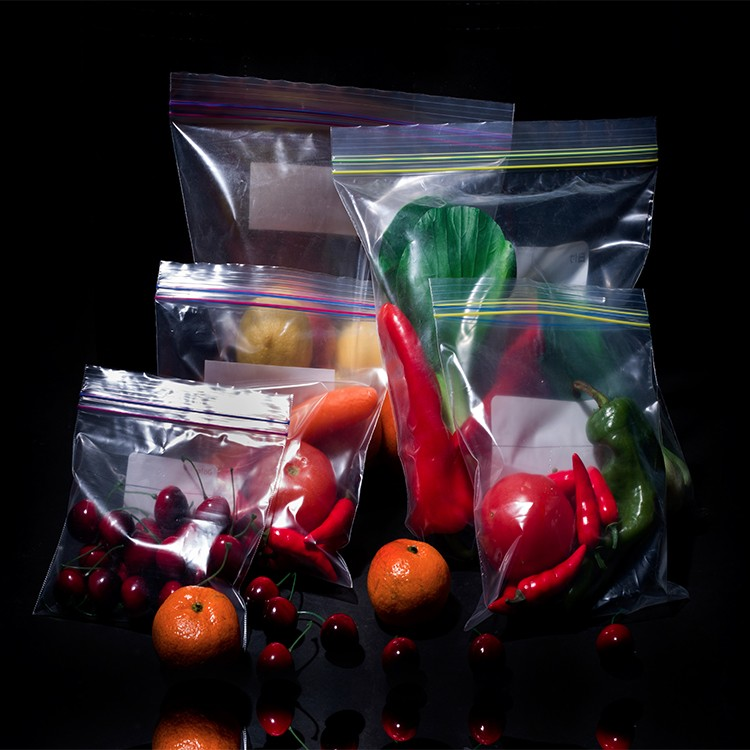 size color print customized food grade plastic double ziplock bags
