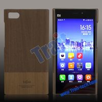 Kajsa Ultra-slim Wooden Style Oil Coated Leather PC Protective Case for Xiaomi MI3 Case