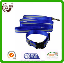 Promotional wholesale high-end foam handle polyester dog collar and leash set pet with custom heat transfer print logo