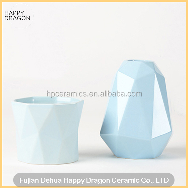 Polytope Shape ceramic candle cups, candle vessels