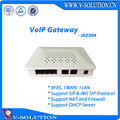 4FXS + 1WAN + 1LAN VoIP Gateway Support High/Low Speed Fax/Modem