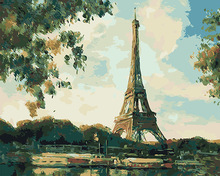 Paris tower diy oil painting by numbers for liveing room decor