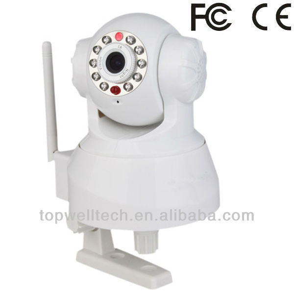 Pan/Tilt IP Camera With two way audio wifi wireless webcam night vision led ir ip camera