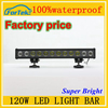 12v waterproof led light bar 120W led car roof rack light bar