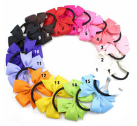 Hot sale baby bowknot elastic band multicolor bow for little kids