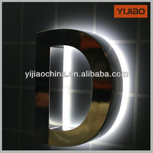 advertising product stainless steel alphabet letters with led light