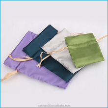 Low MOQ colorful satin drawstring hair pouch bag for packaging