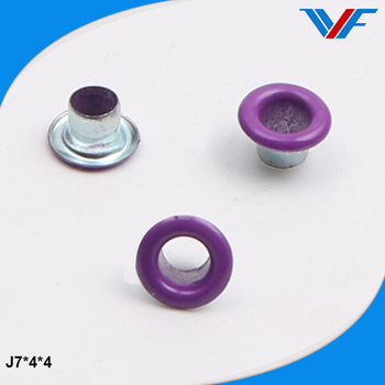 Blue round metal customized metal garments grommets