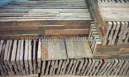 big slab stone form and slate type natural stone exterior wall cladding landscaping stones