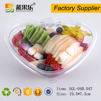 Customized heart shape clear plastic fruit box