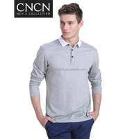 comfortable plus size man long sleeve t shirt wholesale in china