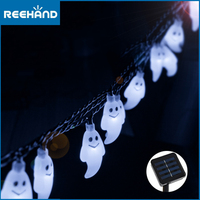 30 LEDs Solar Outdoor Lights String Ghost Halloween Decoration Waterproof Lights Solar for Home Christmas, Parties Decoration