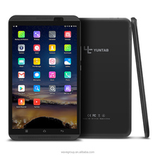 YUNTAB H8 8 inch tablet Android 6.0 Quad-Core 4G tablet pc support dual SIM card phone with dual camera 4500mAh Battery