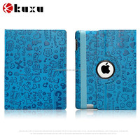 New arrival competitive price 360 degree rotate leather case for iPad 2 3 4