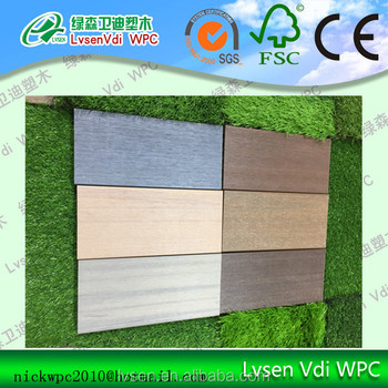 Co-extruded anti slip wood plastic composite decking board wpc floor rot proof timber