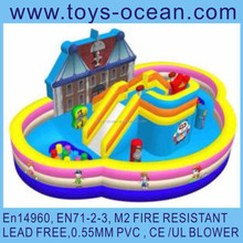 inflatable ball pool /air bouncer with slide /giant inflatable pools