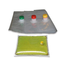 aseptic bib bag in box for olive oil transport with spout