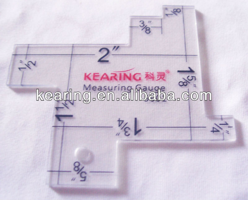 KEARING,PLASTIC MEASURING GAUGE 14 IN 1,GARMENT CUTTING TOOL, #5601