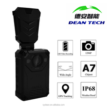 1296P Weatherproof Police Video Body Worn Camera with Night Vision and 4G Transimission