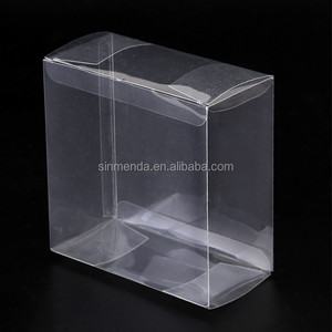 Wholesale hard rectangular acetate PVC clear wine glass plastic gift box