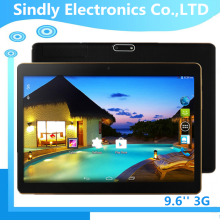 2016 Shenzhen tablet de sexe! 9.6 ''* 800 IPS écran android 5.1 MTK6582 quad core 1 gb + 16 gb dual sim tablet pc