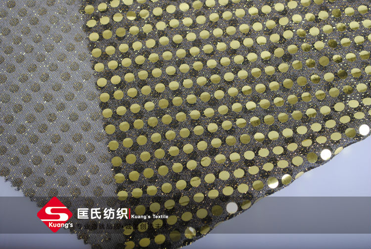 american knitted diamond spangle mesh fabric