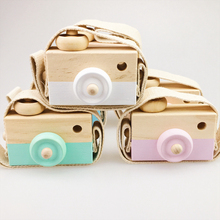 Hot Sale Custom logo Chidren Gift Toddler Toy | Baby Decor Painted Wooden Camera Toys for Pretend Play