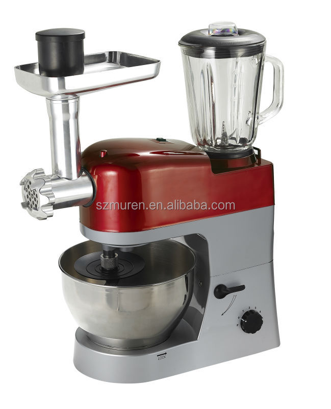 1200w multi-funciton Stand / ABS plastic housing household food chef with blender and grinder and mixer