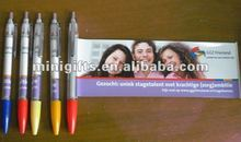 cheap roll flyer banner pen with logo printing