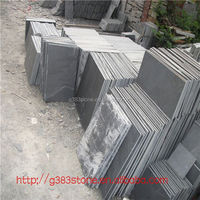 floor paving natural cheap honed black slate from China