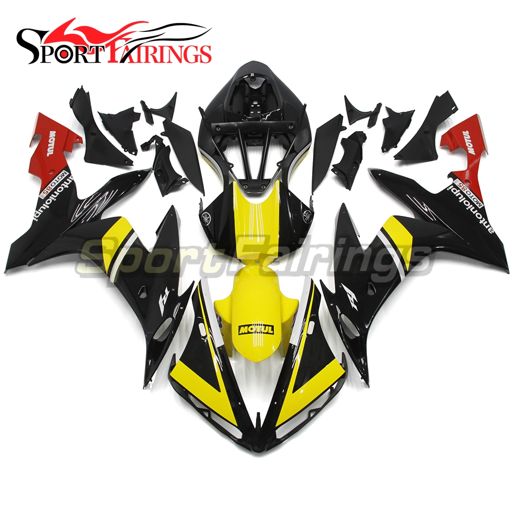 Full Fairings For Yamaha YZF <strong>R1</strong> 04 05 06 ABS Plastic Injection Motorcycle Fairing Kit Body Kits Antoniolupi Yellow Black