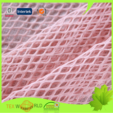 knitted 94% nylon 6% spandex fishing net fabric for erotic lingerie