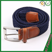 Unisex navy blue Stretch Knitted Belts for wholesale