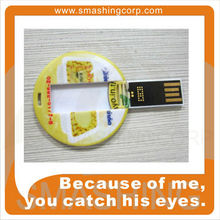 Circular Portable USB flash drive in low price
