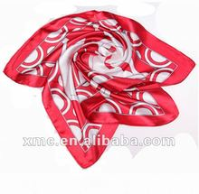 Printed Fashion Polyester Suqare Foulard 2012