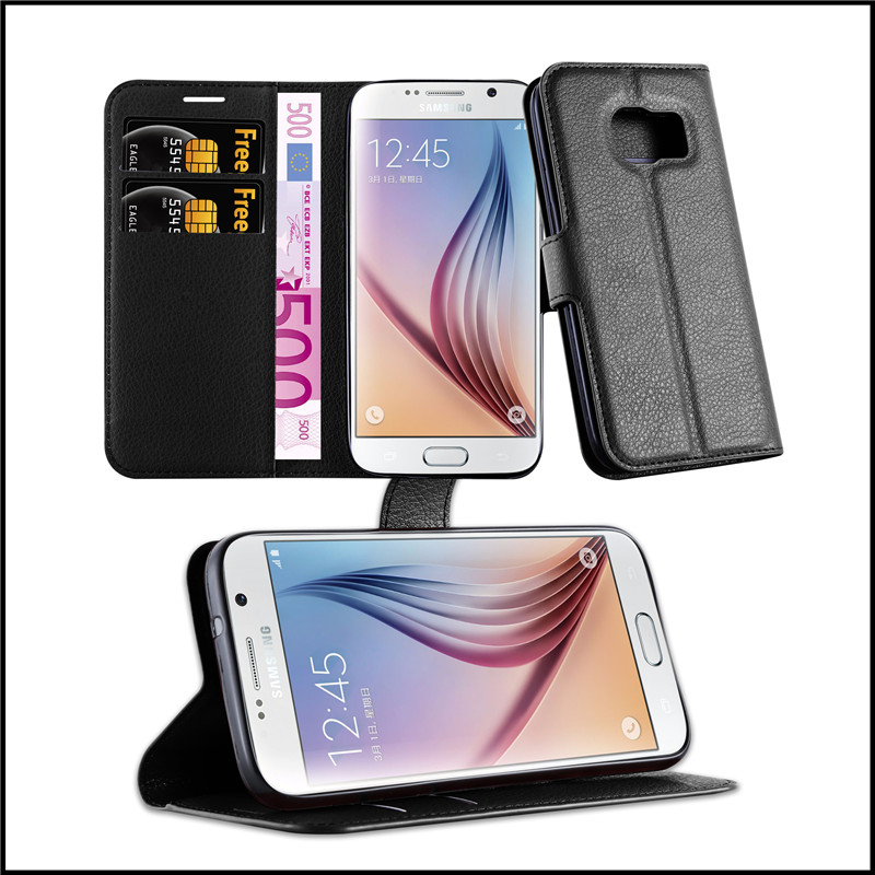 Wallet Flip Leather Moblie Phone Case Cover with Card Slots for Samsung Galaxy S7