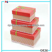 red dot make up tools storage box/muti-size pretty box packed print