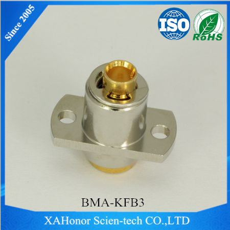 coaxial connector BMA Plug Connector with 4 Hole Flange for RG174 cable