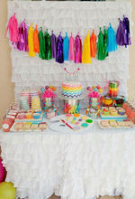 chevron rainbow Tissue Paper Tassel Garland Paper polka dots candy cups chevron stripe cups Baby shower decorations