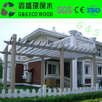 Outdoor 2015WPC pergola/recycle wpc pergola