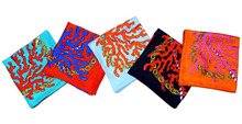 Custom Printed Machine Silk Twill Square Scarves