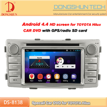 new arrival car 2 din dvd player car radio for Toyota Hilux