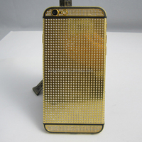 for iphone 6s back housing,luxurious gold crystal housing,for iphone 6 diamond housing