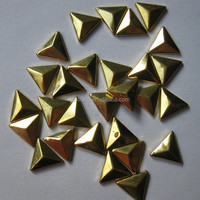hot-fix flat back and point back round shape convex studs for shoes wholesale supplier