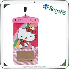 ABS cute hello kitty mobile phone waterproof bag for s6