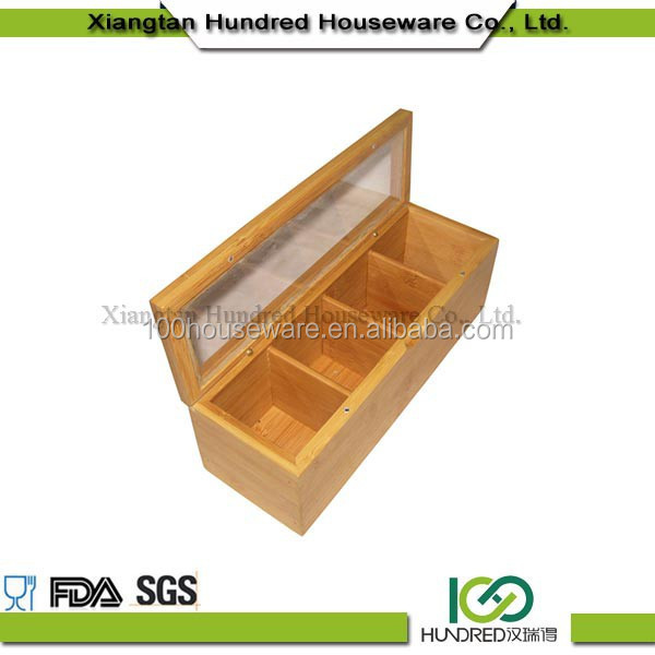 High quality Best Sale natural handmade Bamboo Kitchen Drawer Organizer Utensil Tray Holder