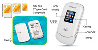 3g4g mini portable wifi wireless Router with Sim Cards and power bank