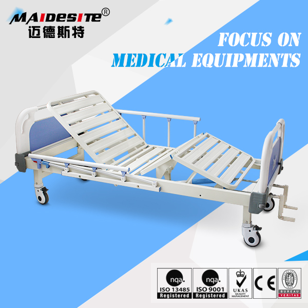 2017 New medical appliance 3 functions manual metal hospital bed for sale