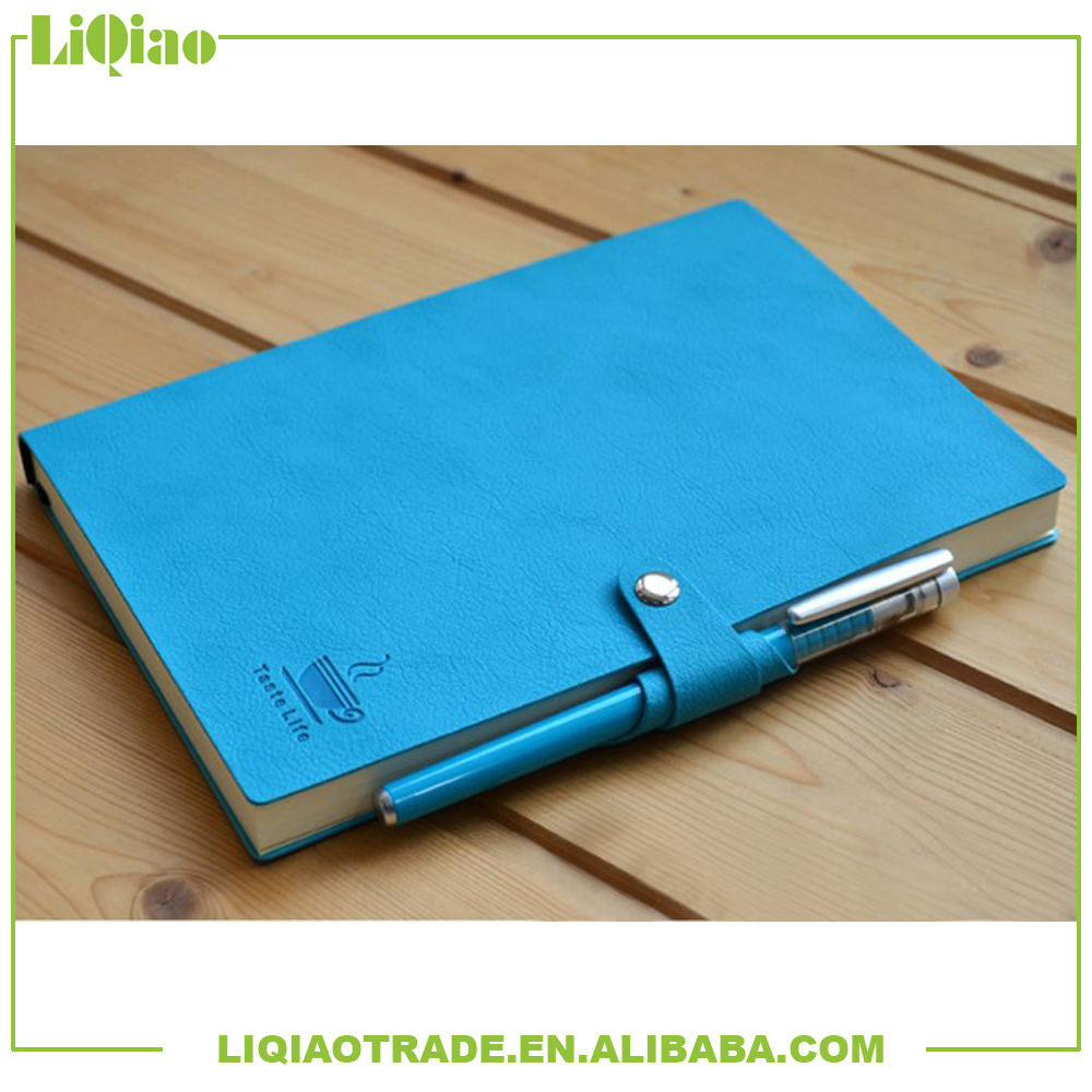 A5 /portable color PU note book with the same color pen